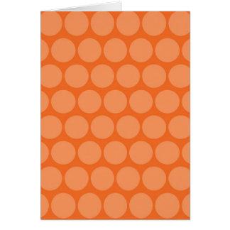 Girly riesiges großes orange karte