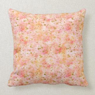 Girly rosa GoldWatercolorconfetti-Spritzer Kissen