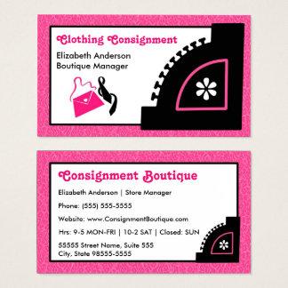 Girly rosa Leopard-Kleidungs-Lieferungs-Butike Visitenkarte