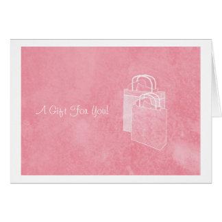 Girly rosa Shopping spree-Geld eingeschlossen Karte