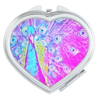 Girly rosa u. aquamariner taschenspiegel