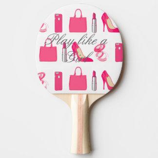 Girly Sache-Klingeln pong Paddel Tischtennis Schläger