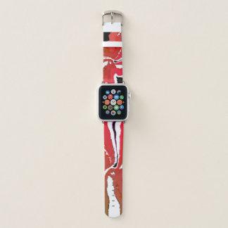 Girly schickes Rot 38mm Apple passen lederne Apple Watch Armband