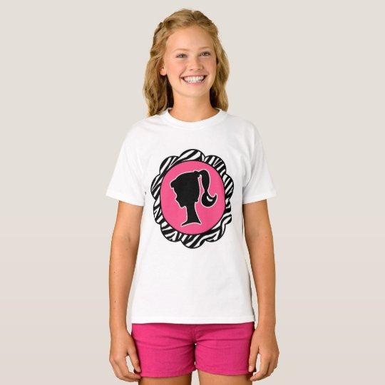 Girly Silhouettezebra-Druck-Miniatur-Shirt T-Shirt