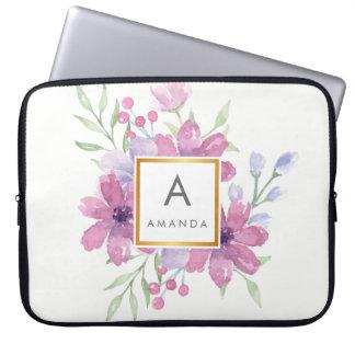 Girly TRENDY Watercolor ROSA Laptop Sleeve