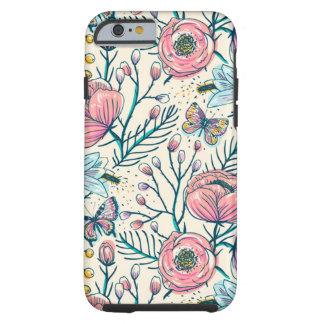 Girly Vintages Rosen-Garten-Blumen-Muster Tough iPhone 6 Hülle