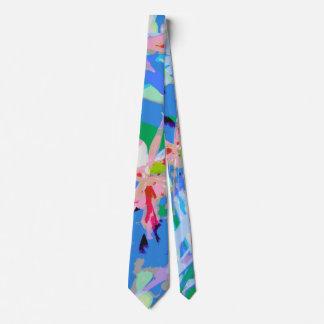 Girly weibliches abstraktes Blumenmuster Krawatte