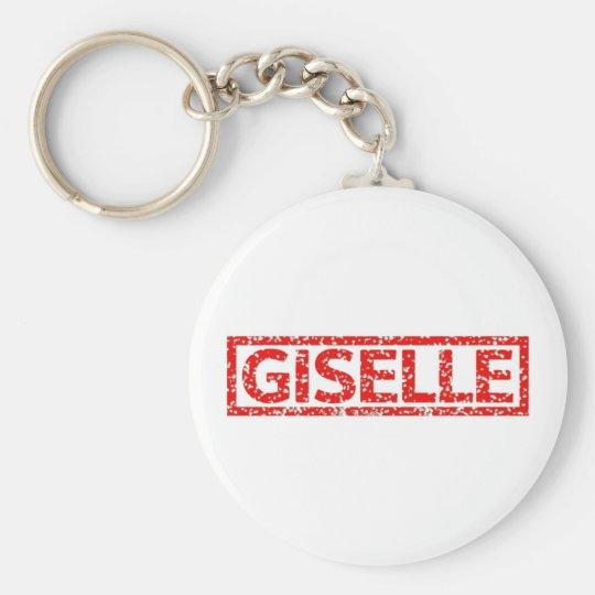 Giselle Briefmarke Standard Runder Schlüsselanhänger