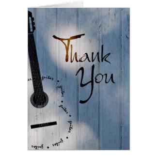 Gitarre danken Ihnen zu merken Mitteilungskarte