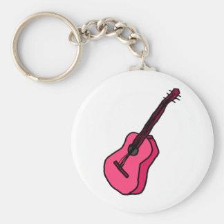 Gitarre in pink schlüsselanhänger