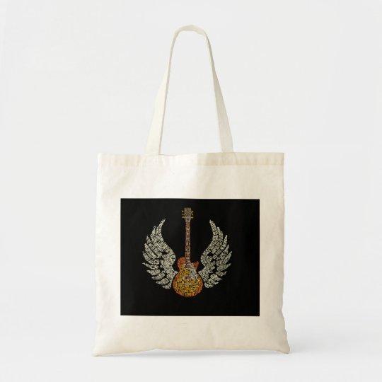 Gitarre mit Flügeln Budget Stoffbeutel