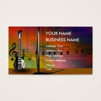 Gitarre - Musikindustrie-Karte Visitenkarte