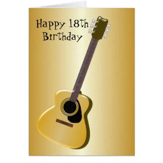 Gitarren-18. Geburtstag Karte