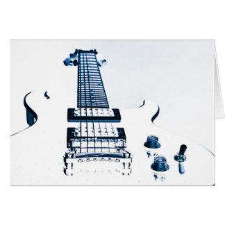Gitarren-Bild-Gruß-Karten Karte