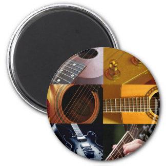Gitarren-Foto-Collage Runder Magnet 5,7 Cm