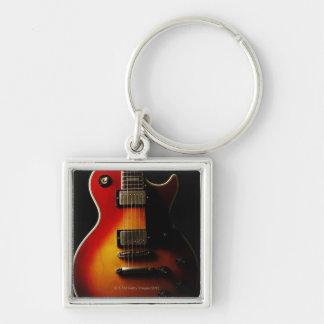 Gitarren-Instrumente Silberfarbener Quadratischer Schlüsselanhänger