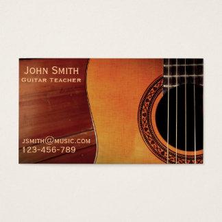 Gitarren-Lehrermusiktutor freiberuflich tätig Visitenkarte