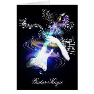 Gitarren-magische E-Gitarren-Kunst-Karte Grußkarte