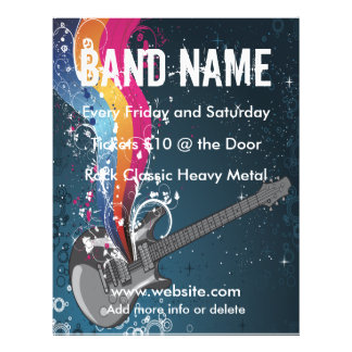 Gitarren-Musik-Flyer