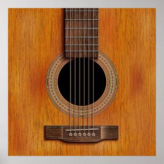 Gitarren-Nahaufnahme Poster