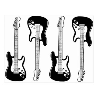 Gitarren-Postkarte Postkarte