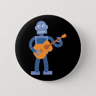 Gitarren-Roboter Runder Button 5,7 Cm