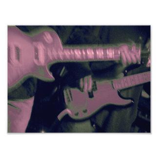 Gitarren-Schleuderer Kunst Photo