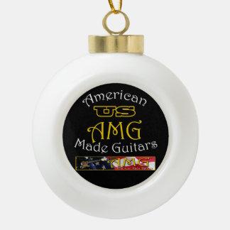 Gitarren-Weihnachtsbaum-Verzierung US Keramik Kugel-Ornament