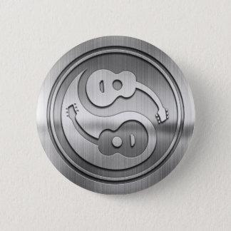 Gitarren-Yang-Metall Runder Button 5,1 Cm