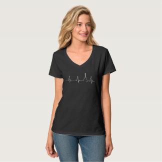 Gitarrist-Küken-Gitarren-Herzschlag T-Shirt