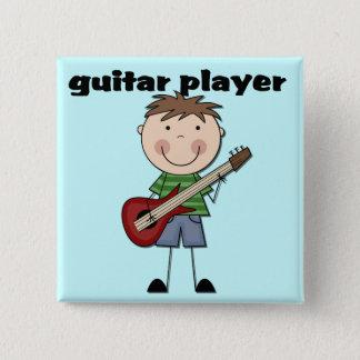 Gitarrist - männliche T-Shirts und Geschenke Quadratischer Button 5,1 Cm