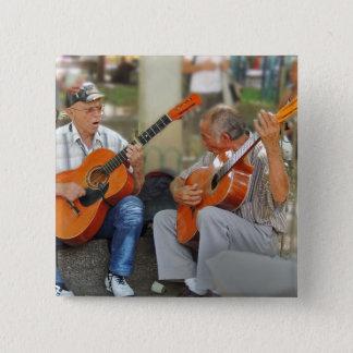 Gitarristen in Parque Bolivar Quadratischer Button 5,1 Cm