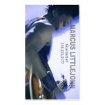 GitarristHeadshot für Musiker Visitenkarten Vorlage