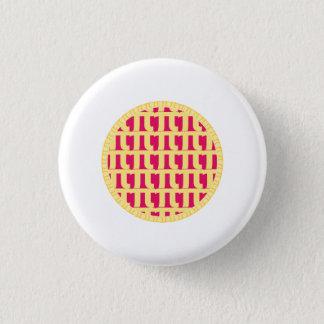 Gitter-Himbeertorte - PU-Tag Runder Button 2,5 Cm