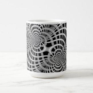 Gitter in der Schwarzweiss-Tasse Kaffeetasse