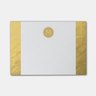 Glamour-Goldfolien-Hintergrund-Monogramm Post-it Klebezettel