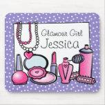 Glamour-Mädchen-Geburtstag (Palladium) Mauspad