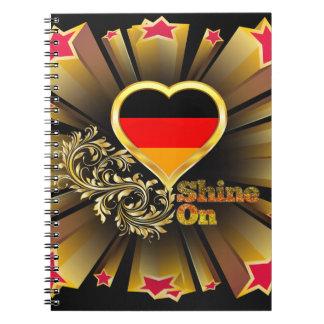 Glanz auf Deutschland Spiral Notizblock