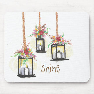 Glanz-Blumenlaternen-Mausunterlage Mousepad