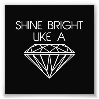 Glanz hell wie ein Diamant Kunstfotos