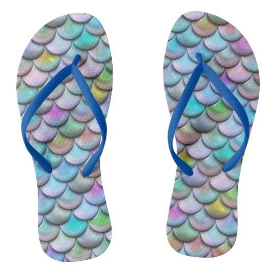 Glänzende glatte pearlescent bunte flip flops