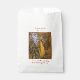 Glänzende Goldpfau-Gastgeschenk Hochzeits-Taschen Geschenktütchen
