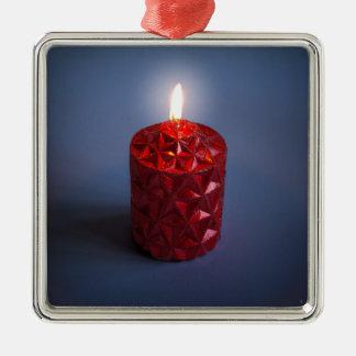Glänzende Kerze Silbernes Ornament