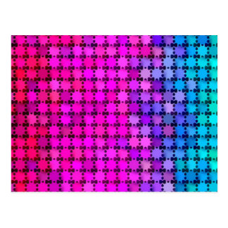 Glänzende Regenbogen-Sterne Postkarte