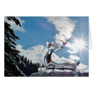 Glänzende Rotwild-Weihnachtsgruß-Karte Grußkarte