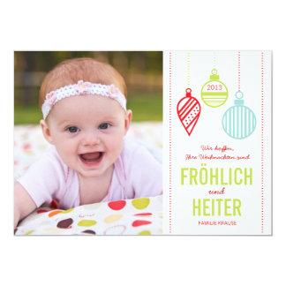 Glänzenden Verzierungen Foto Weihnachtskarte 12,7 X 17,8 Cm Einladungskarte