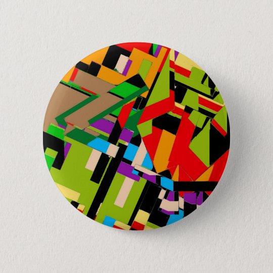 Glänzender abstrakter Entwurf Runder Button 5,7 Cm