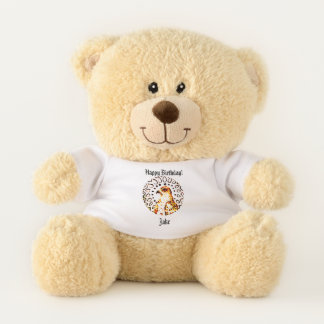 Glänzender Falke Teddybär