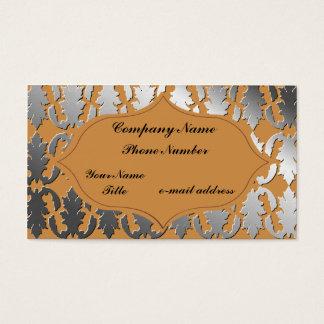 Glänzender metallischer Damast-Ausschnitt Visitenkarte