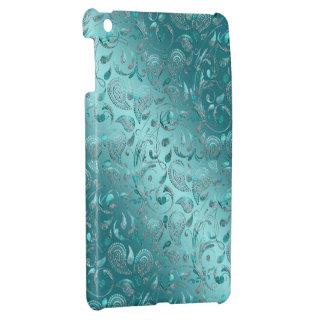 Glänzender Paisley-Türkis iPad Mini Hülle